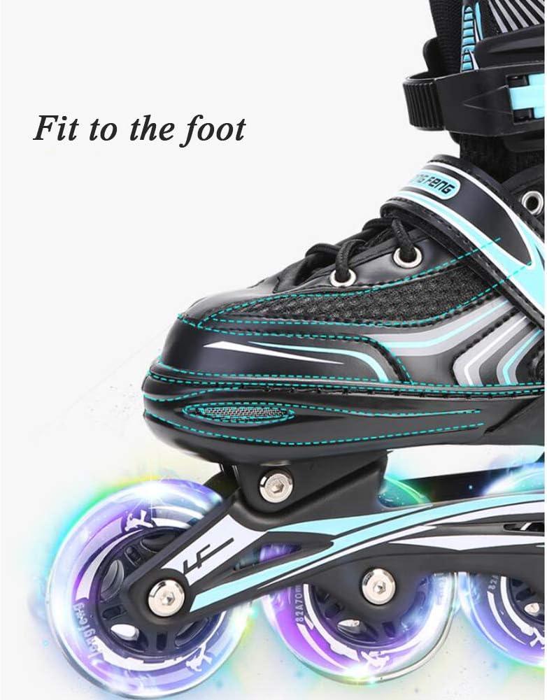 Adjustable Size Dytxe Adult Inline Skates for Men and Women Roller Skates with Light Up Wheels Fun Flashing Beginner Roller Skates for Kids