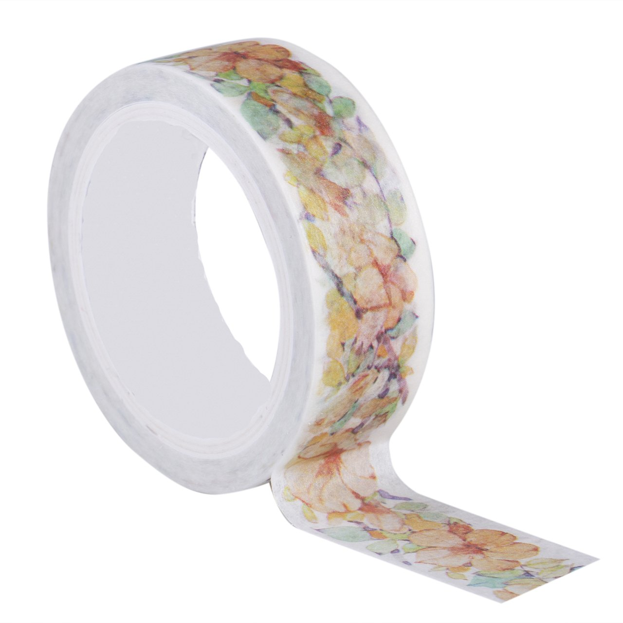 Washi Masking Tape Set Flower Decorative DIY Sticky Paper Adhesive Tape for DIY Crafts and Gift Wrapping Office Party Supplies Scrapbooking(Campbell Flower)