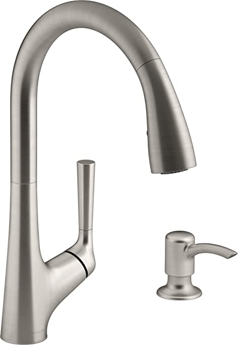 Kohler Malleco Touchless Pull-down Kitchen Faucet with Soap Dispenser