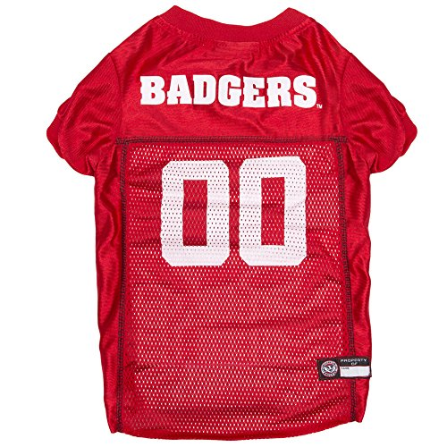 NCAA WISCONSIN BADGERS DOG Jersey, Large