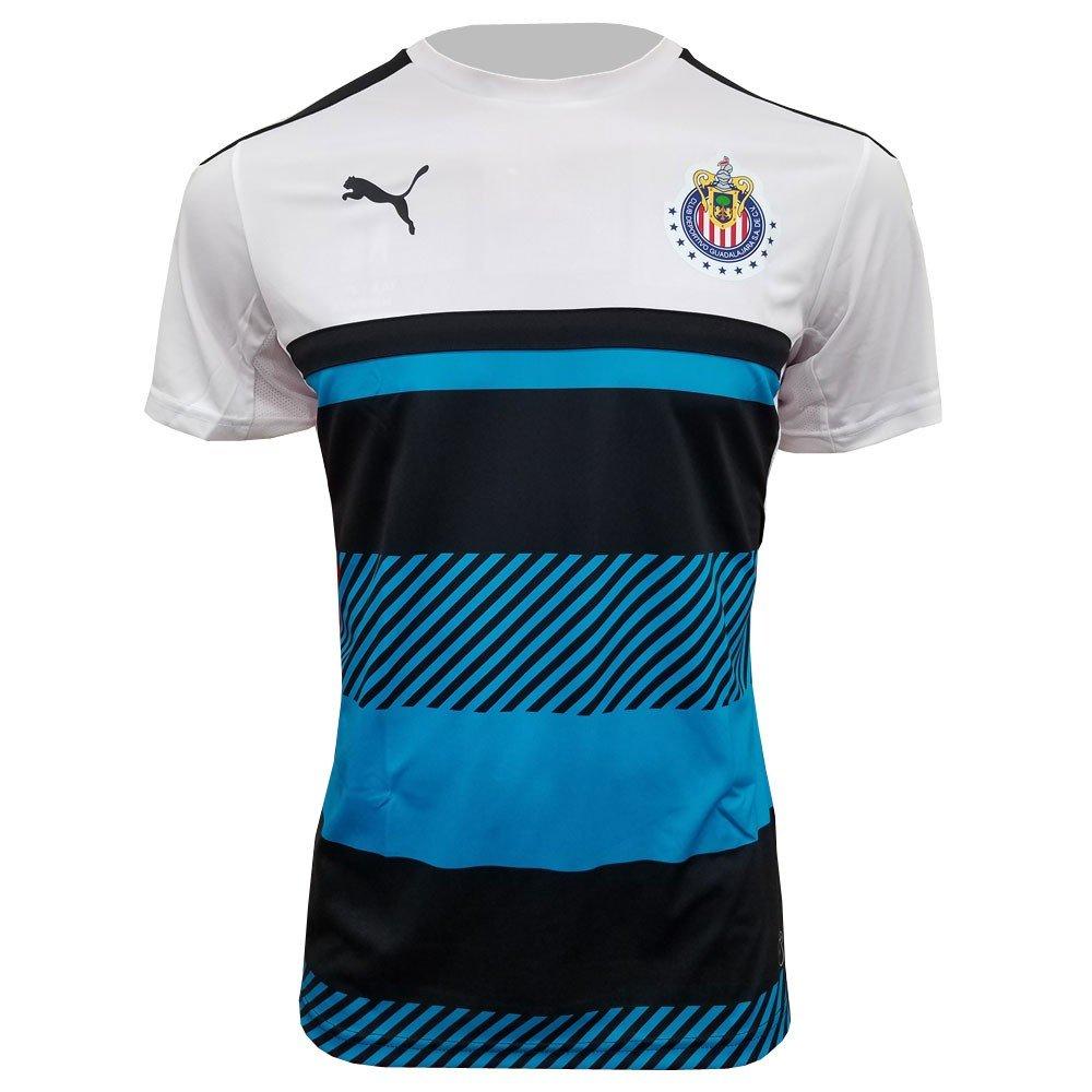6a39f6baf48 Amazon.com  Puma 16 17 Chivas Training Jersey (White Atomic Blue Black)  (S)  Sports   Outdoors