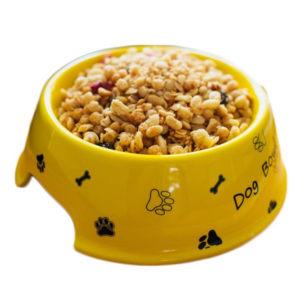 RUIYI Pet Footprint Pattern Food Bowl Dog Cat Travel Lettere Portable Water Bowl Pet Ceramica Bowl per Small Medium Dog