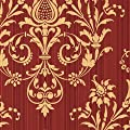 CS27362 - Classic Silks 3 Damask Red Gold Galerie Wallpaper