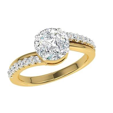 Buy TBZ The Original 18k 750 Yellow Gold and Diamond Ring