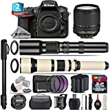 Holiday Saving Bundle for D810 DSLR Camera + 18-140mm VR Lens + 650-1300mm Telephoto Lens + 500mm Telephoto Lens + 2yr Extended Warranty + 32GB Class 10 Memory + Battery - International Version