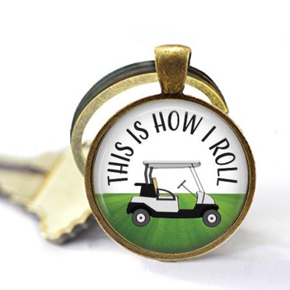 Amazon.com: Llavero con colgante de carrito de golf con ...
