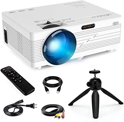 Mini Projector 1080P,Merisny 2400 Lumens Video Projector 176