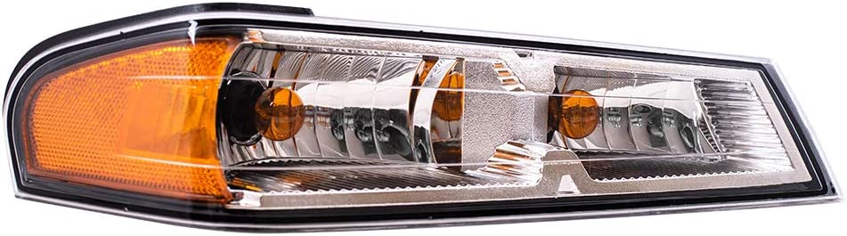 Replacement Driver and Passenger Set Park Signal Side Marker Light Compatible with 2005-2008 Colorado Pickup Truck