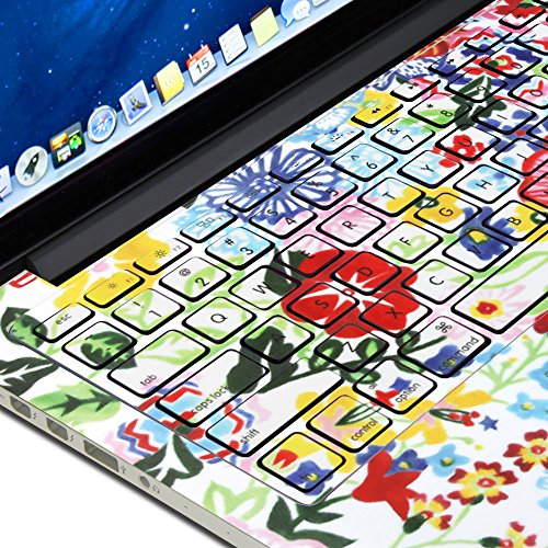 GMYLE Flower Pattern Keyboard Decals Skin Sticker for MacBook Pro 13 [US Model] (Not fit for MacBook Pro 13 with Retina Display)