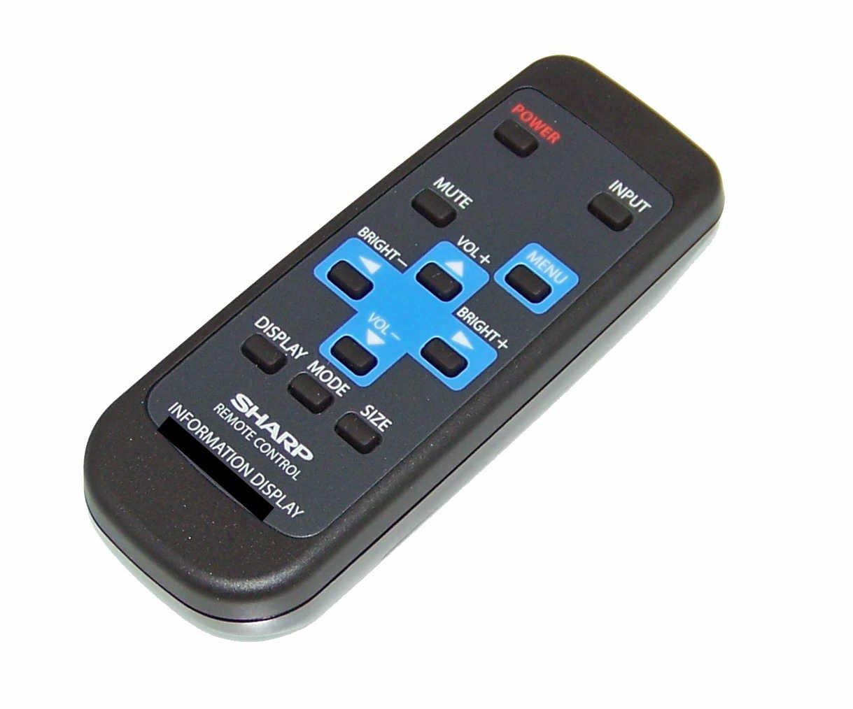 OEM Sharp Remote Control Originally Shipped With PNL702B, PN-L702B, PNL802B, PN-L802B