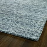 Kaleen 9' x 12' Wool Area Rug in Blue, Hand-Tufted