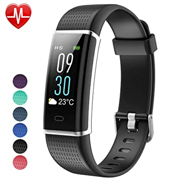 Willful Fitness Tracker pantalla de color, SW352 actividad Tracker Fitness reloj de pulsera de ritmo