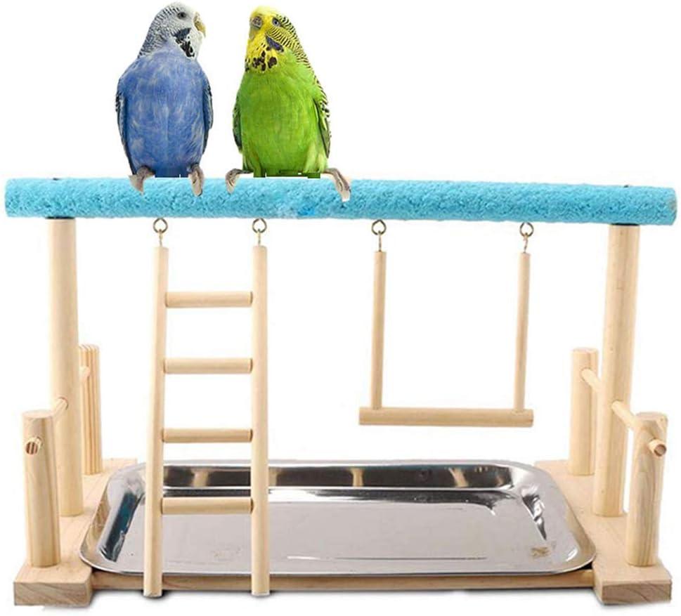 Keer Parrots - Soporte de Madera para pájaros, Perca, Escalera, Columpio con Juguete para Periquito, cacatúa, conura, cacatúa, cacatúa, Guacamayo, Periquito, pinzón Canario: Amazon.es: Productos para mascotas
