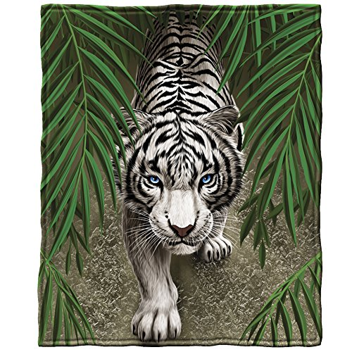 White Tiger Fleece Throw Blanket