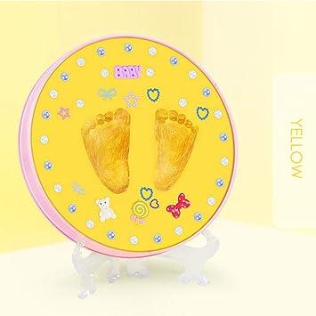 HaiQianXin Huella de bebé Adorno Kit Recién Nacido Recuerdo Recuerdo DIY Impresión de Manos y pies para bebés Caja de Memoria Regalo de ...