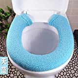 Lqchl Thickening Toilet Pad In Winter,Blue