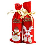 1PC (Random Delivery) Wine Bottle Cover Bags Decoration Home Party Santa Claus Christmas