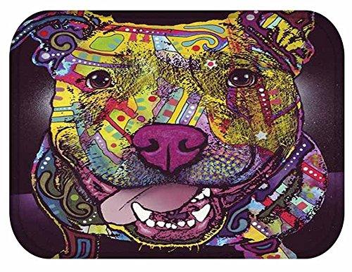 YJBear Lovely Dog Pattern Print Floor Mat Rectangle Doormat Kitchen Floor Runner Home Decor Carpet Coral Fleece Indoor 16