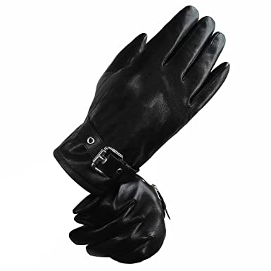 85ce5ab7d195a LETHMIK Mens Touchscreen Winter Genuine Leather Gloves Driving Outdoor Fleece  Lining Black-L