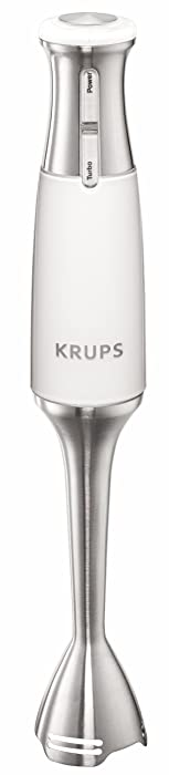 KRUPS KZ700142 Acrylic Immersion Blender with Stainless Steel Blades, White