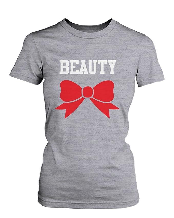 A juego Par camisas belleza y bestia gráfico camisetas (men ...