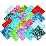 "80 5"" Batik Tonal Quilting Fabric Charm Pack"