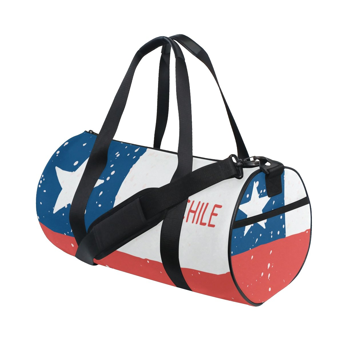 Distressed Chile Flag Travel Duffel Shoulder Bag ,Sports Gym Fitness Bags by super3Dprinted