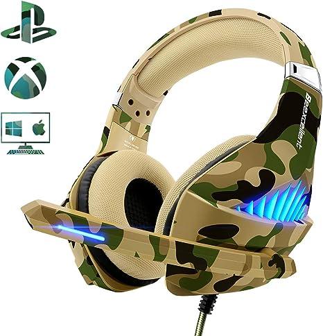 Beexcellent Deep Bass - Auriculares de Diadema para PS4 y Xbox One ...