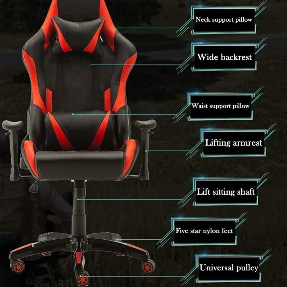 Spelsäten, E-sport spelstol hem ergonomisk lyft återhämtare kontor dator stol knästol (färg: 2) 2