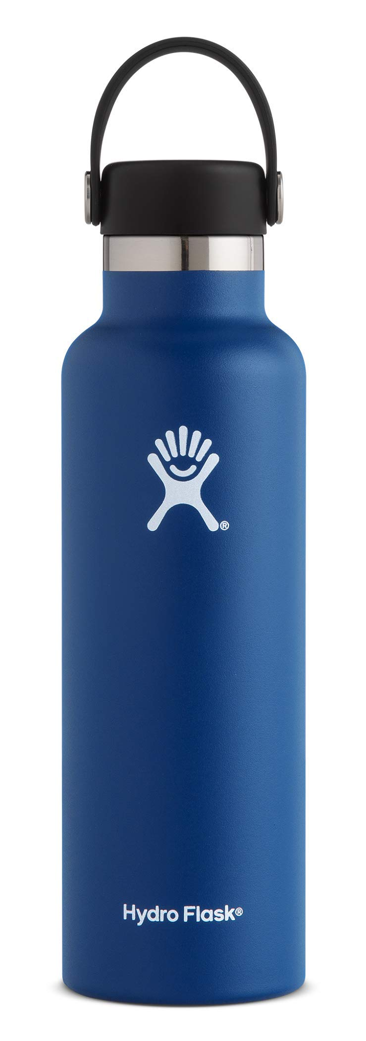 Hydro Flask Water Bottle - Stainless Steel & Vacuum Insulated - Standard Mouth with Leak Proof Flex Cap - 21 oz, Cobalt by Hydro Flask