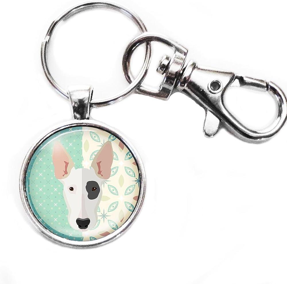 Bull Terrier  Silver Keyring