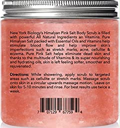 Himalayan Salt Body Scrub - Huge 12 OZ - 100% All Natural – Moisturizing Deep Cleansing Exfoliator with Lychee Oil & Sweet Almond Oil