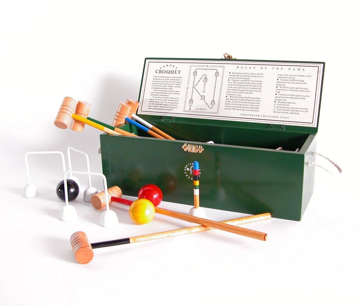 Übergames Indoor Mini-Krocket aus ECO-Holz inkl. Kiste zum Aufbewahren