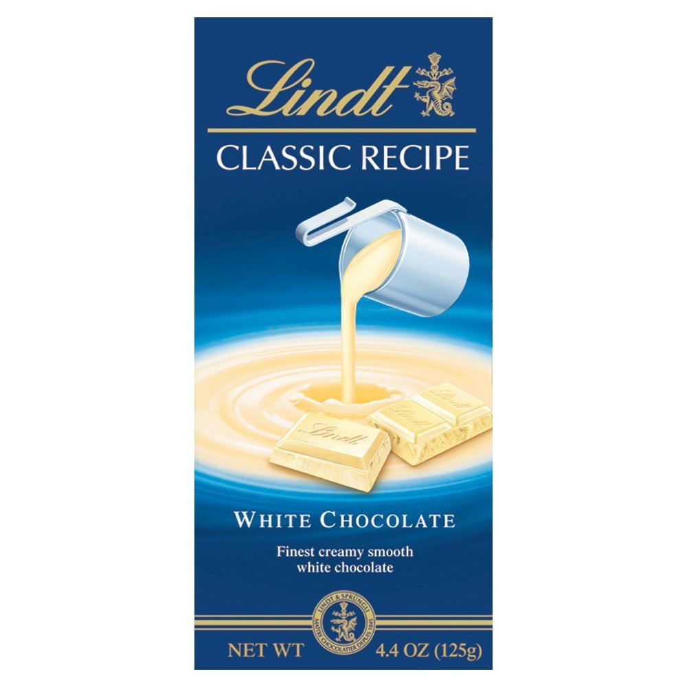 Lindt Chocolate Bar Classic White, 4.4 Ounces (4 pack)