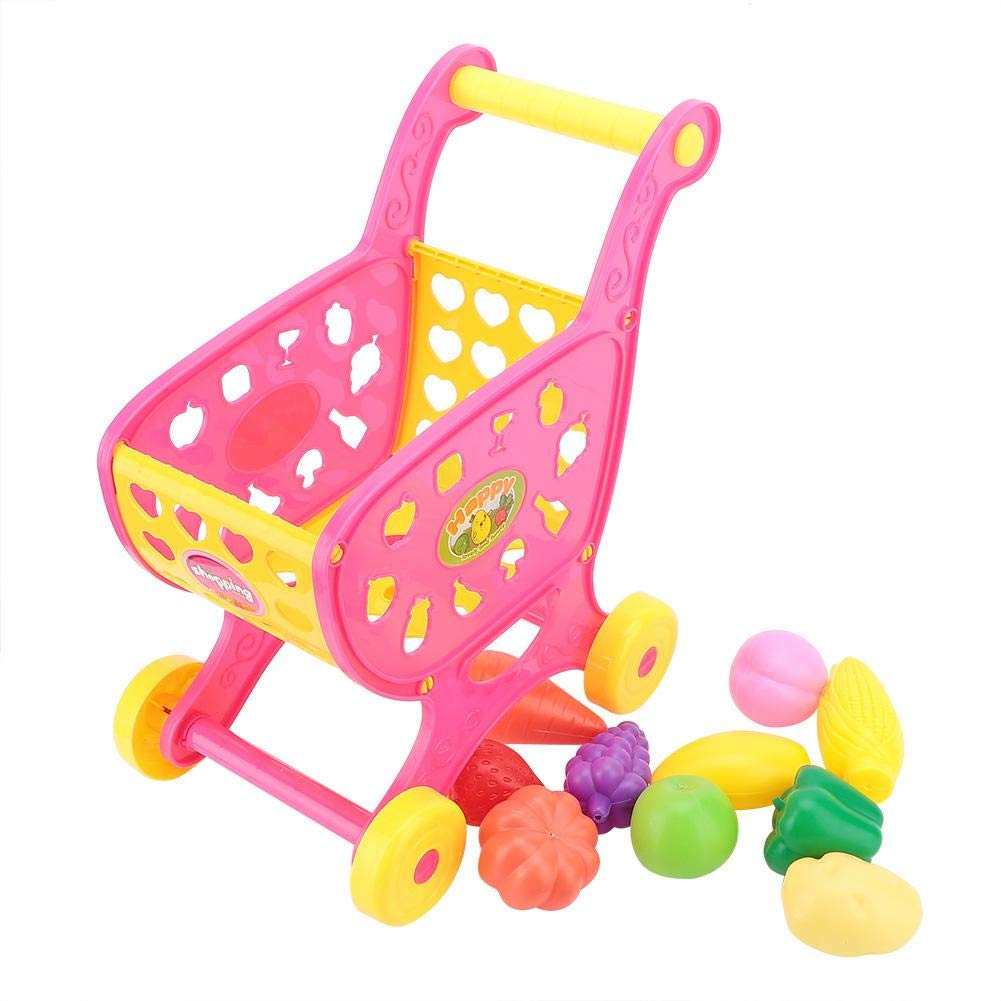 Hztyyier Children Shopping Cart Toy, Funny Safe Kids Toddler Shopping Cart Toy Children Pretend Playset Grocery Cart Trolley by Hztyyier