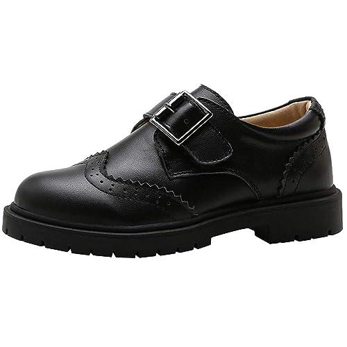 rismart Niño Derby Brogues Colegio Duradero Hermoso Vestido Zapatos: Amazon.es: Zapatos y complementos