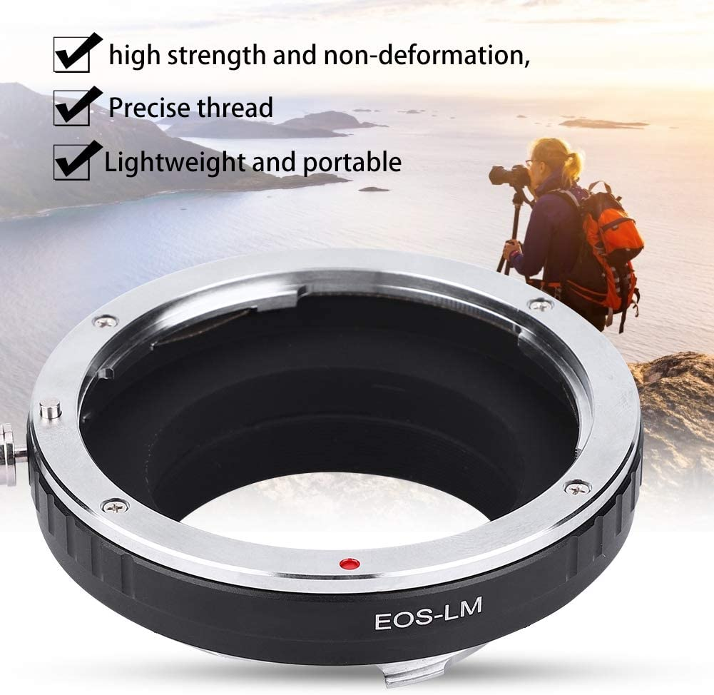 Vbestlife EOS-LM Lens Adapter Ring Aluminium Alloy Converter EOS Mount Camera Lens to for LM Mount Camera Body
