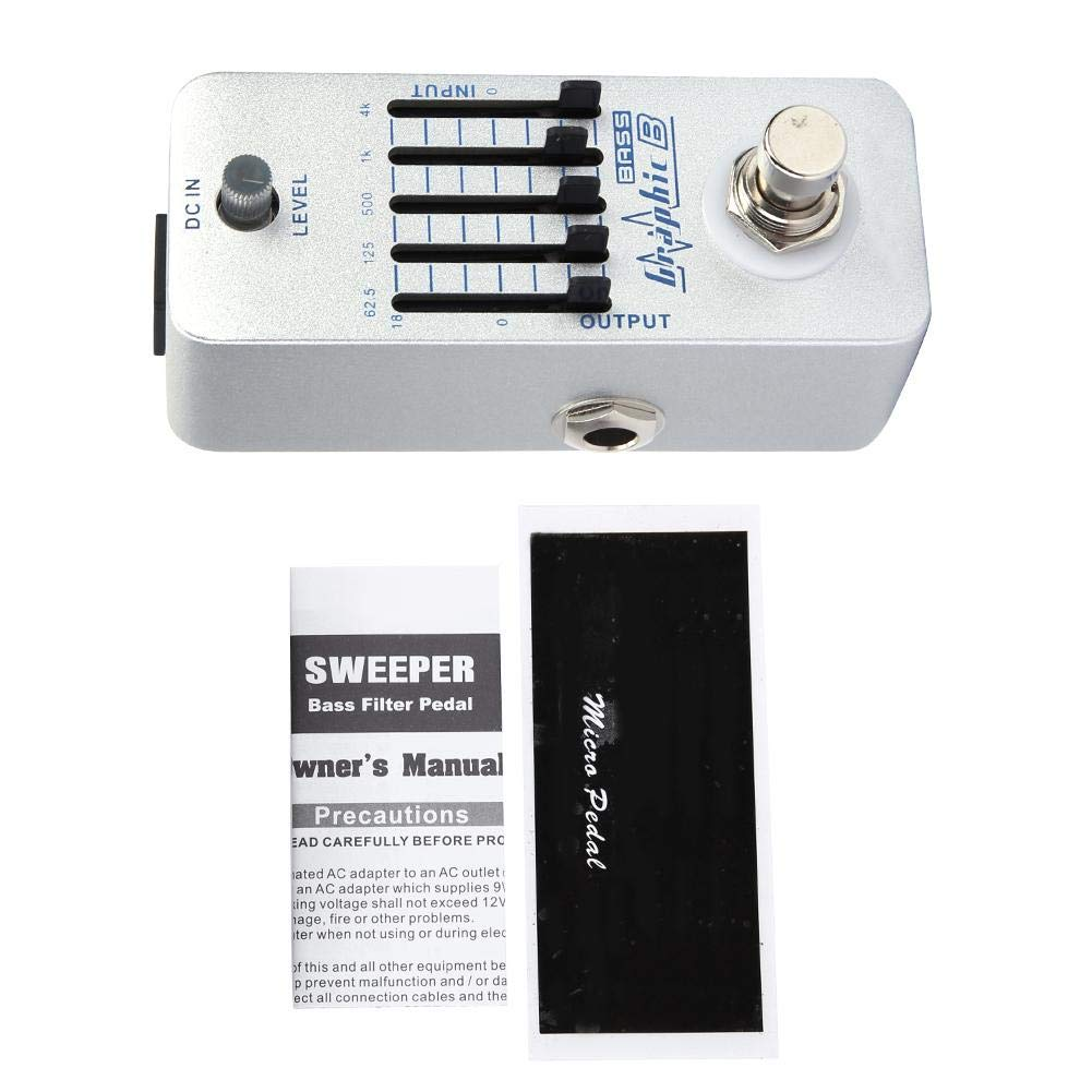 Bass Equalizer Bass EQ Pedal Guitar Pedals Bass Balance Metal Shell Graphic B Bass EQ Effects Pedal ±18dB Adjustable Guitar Equalizer by RiToEasysports