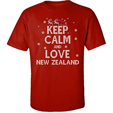 Amazoncom Keep Calm And Love New Zealand Country Ugly Christmas