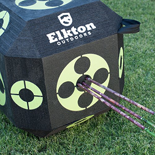 Elkton Outdoors 2017 Edition 18-Sided 3D Cube Reusable Archery Target Constructed With Arrow Puller & Rapid Self Healing XPE Foam for all Arrow Types by Elkton Outdoors (Image #5)