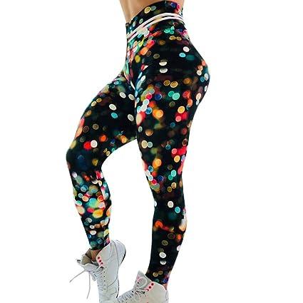US Women Yoga Fitness Leggings Running Gym Stretch Sports Skull Printed Trousers