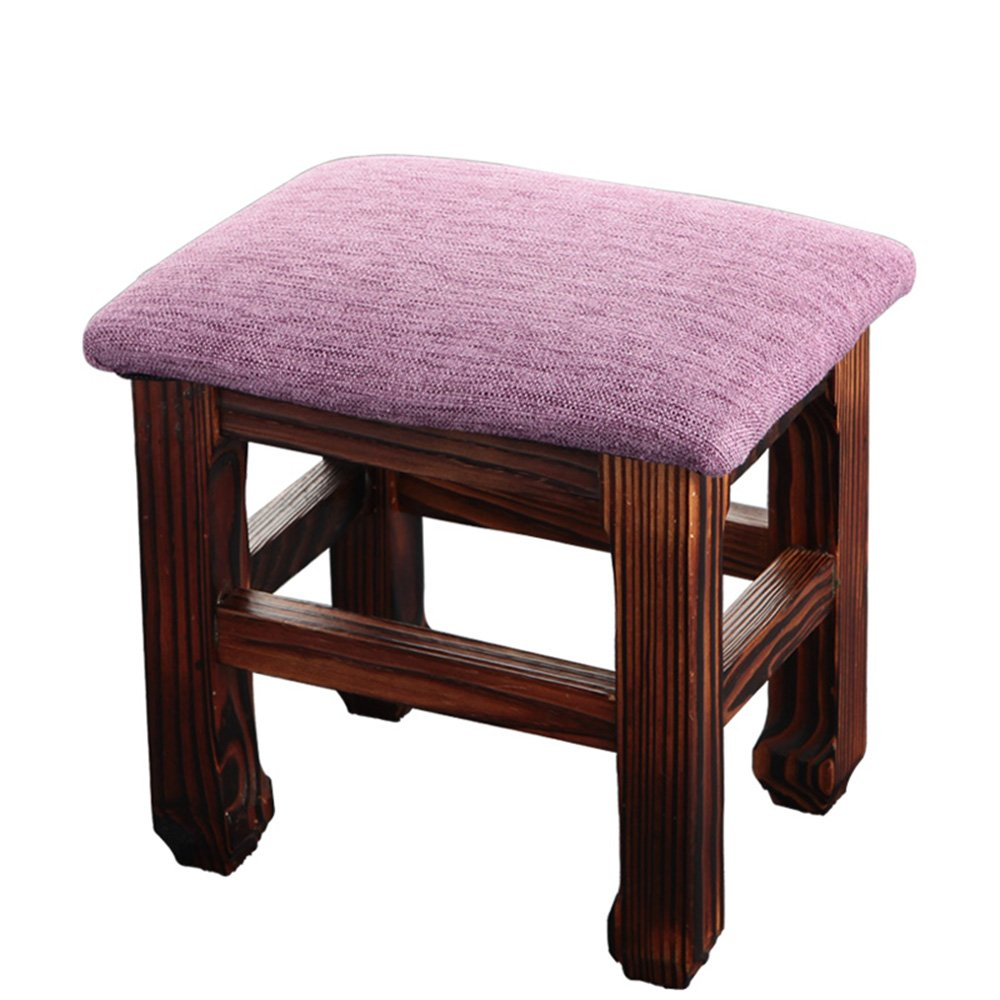 Chairs MEIDUO Stool Household Living Room Stool Solid Wood Children L26W20H25 (Color : A)