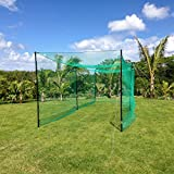 FORTRESSUltimate 55' Baseball Batting Cage [Net & Poles Package] - #42 Heavy Duty Net with Steel Uprights