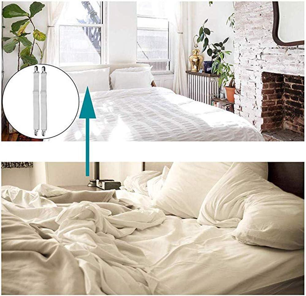 Planche /à Repasser ou Canap/é 8pcs-White Drap de lit O-Kinee Tendeurs de Drap Ajustables pour Drap de lit Matelas Tendeurs /élastiques pour Drap de lit
