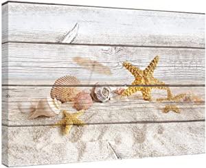SUMGAR Paintings for Bedroom Starfish on Beach Holidays Vintage Decor Wall Art for Living Room
