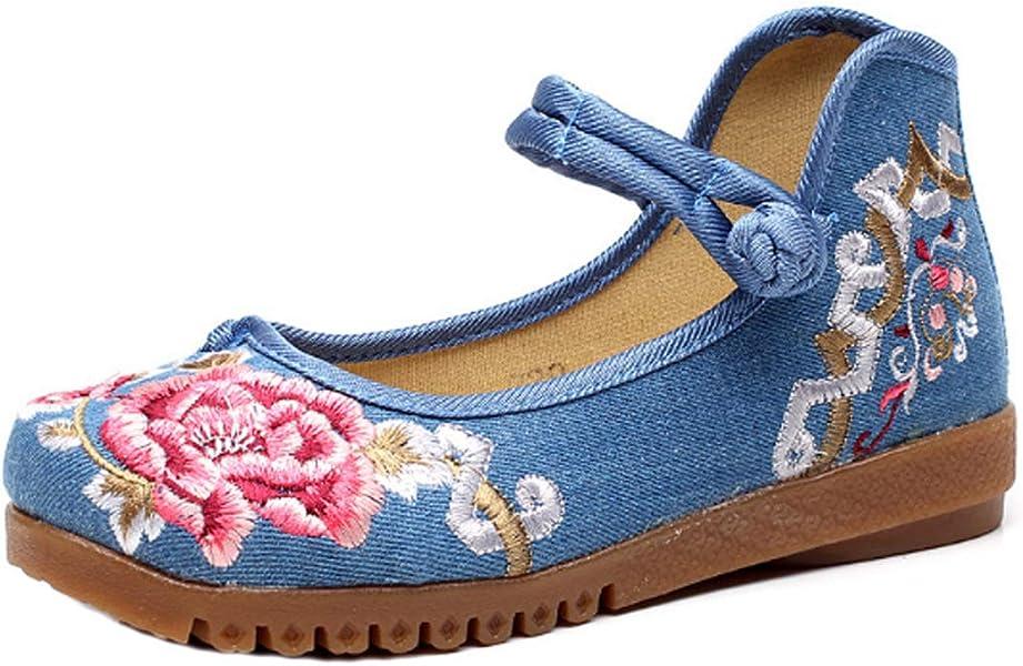 IOSHAPO Las Flores Zapatos Bordados De Las Mujeres Zapatos Solos Cómodo Zapatos Casuales Zapatos de Boda
