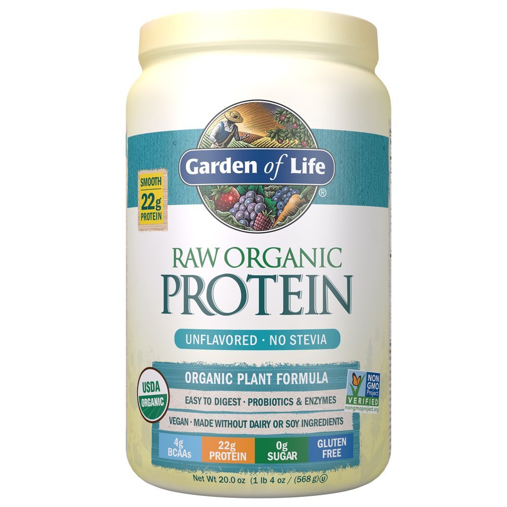 Garden Of Life Meal Replacement Organic Raw Plant Based Protein Powder Lightly