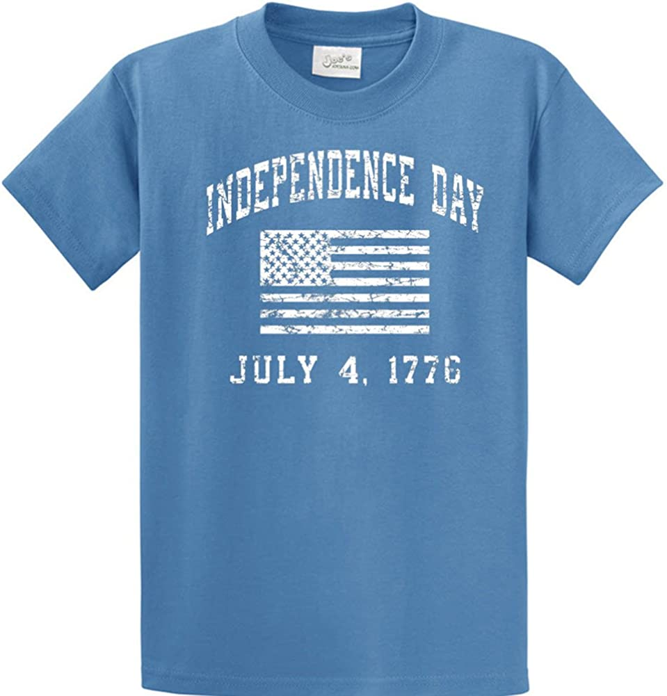 4XLT Colonial Blue Independence Day 4th of July USA Flag Joes USA 4X-Large Tall
