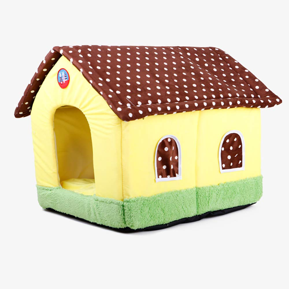 Dog Bed Cat House Plush Soft Comfortable Puppy Dog Can be Removed and Washed Dirty pet Kennel Dog House