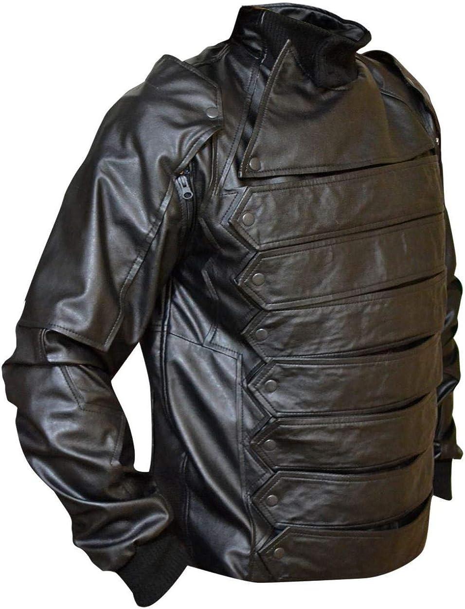 Stormwise Mens Fashion Bucky Leather Jacket